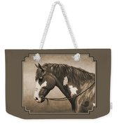 War Horse Aged Photo Fx Weekender Tote Bag
