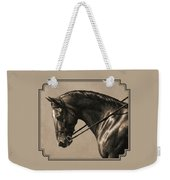 Dark Dressage Horse Aged Photo Fx Weekender Tote Bag