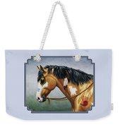 Buckskin Native American War Horse Weekender Tote Bag