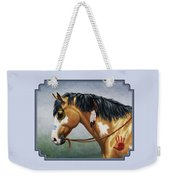 Buckskin Native American War Horse Weekender Tote Bag by Crista Forest