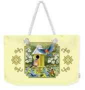 Bluebird Garden Home Weekender Tote Bag