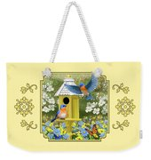 Bluebird Garden Home Weekender Tote Bag by Crista Forest