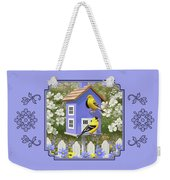 Goldfinch Garden Home Weekender Tote Bag by Crista Forest