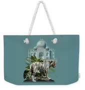 White Tiger And The Taj Mahal Image Of Beauty Weekender Tote Bag