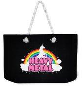 Heavy Metal Funny Unicorn  Rainbow Mosh Parody Design Weekender Tote Bag