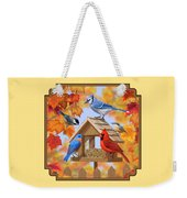 Bird Painting - Autumn Aquaintances Weekender Tote Bag by Crista Forest