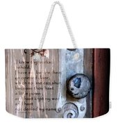 Chapel Door - Verse Weekender Tote Bag