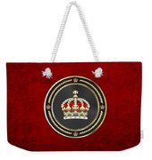 Imperial Tudor Crown Over Red Velvet Weekender Tote Bag