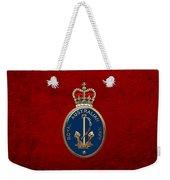 Royal Australian Navy -  R A N  Badge Over Red Velvet Weekender Tote Bag