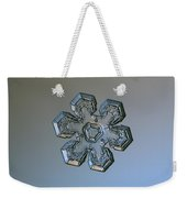 Snowflake Photo - Massive Silver Weekender Tote Bag by Alexey Kljatov
