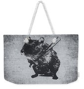 Angry Street Art Mouse  Hamster Baseball Edit  Weekender Tote Bag
