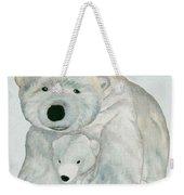 Cuddly Polar Bear Watercolor Weekender Tote Bag
