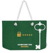 Open New Doors Business Quotes Poster Weekender Tote Bag