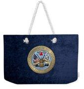 U. S. Army Seal Over Blue Velvet Weekender Tote Bag