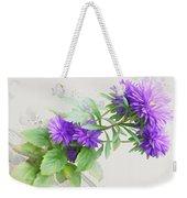 Purple Aster Weekender Tote Bag