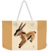 Cuddly Gazelle Watercolor Weekender Tote Bag