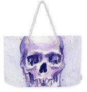 Purple Skull Weekender Tote Bag