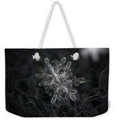 Snowflake Photo - January 18 2013 Grey Colors Weekender Tote Bag