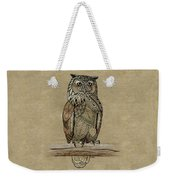Paper Bag Owl Weekender Tote Bag