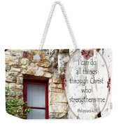 With Me - Verse And Heart Weekender Tote Bag