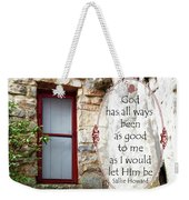 With Me - Quote Weekender Tote Bag