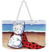 Kiniart Beach Blanket Westie Weekender Tote Bag