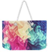 Geometry Triangle Wave Multicolor Mosaic Pattern Hdr   Low Poly Art  Weekender Tote Bag by Philipp Rietz