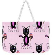 Pink Cool Treats - Cat Typography Weekender Tote Bag