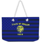 Oregon State Flag Graphic Usa Styling Weekender Tote Bag