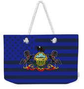 Pennsylvania State Flag Graphic Usa Styling Weekender Tote Bag