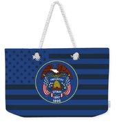 Utah State Flag Graphic Usa Styling Weekender Tote Bag