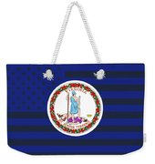 Virginia State Flag Graphic Usa Styling Weekender Tote Bag