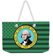 Washington State Flag Graphic Usa Styling Weekender Tote Bag