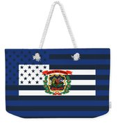 West Virginia State Flag Graphic Usa Styling Weekender Tote Bag