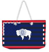 Wyoming State Flag Graphic Usa Styling Weekender Tote Bag