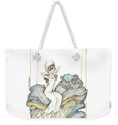 The Princess And The Pea, Illustration For Classic Fairy Tale Weekender Tote Bag
