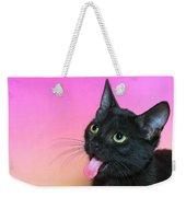 Black Kitten Says Yuck Weekender Tote Bag