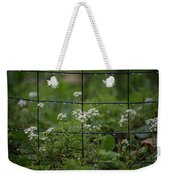 Raindrops On The Garden Fence Weekender Tote Bag