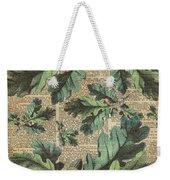 Oak Tree Leaves And Acorns, Autumn Dictionary Art Weekender Tote Bag