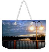 Boat Lights Sunset On Lady Bird Lake Weekender Tote Bag