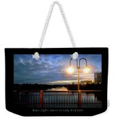 Boat, Lights, Sunset On Lady Bird Lake Weekender Tote Bag