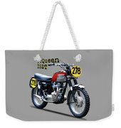 The Steve Mcqueen Isdt Motorcycle 1964 Weekender Tote Bag