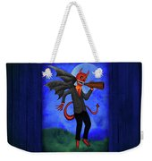 The Devil Appeared To Me Growling Through An Old Megaphone Weekender Tote Bag