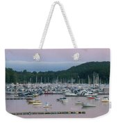 Sunrise Over Mallets Bay Panorama - Two Weekender Tote Bag