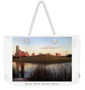 Birds And Fun At Butler Park Austin - Silhouettes 1 Poster And Greeting Card Weekender Tote Bag