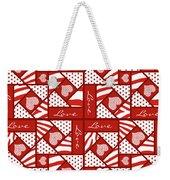 Valentine 4 Square Quilt Block Weekender Tote Bag