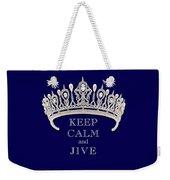 Keep Calm And Jive Deep Blue Diamond Tiara Weekender Tote Bag