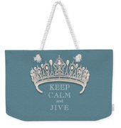 Keep Calm And Jive Diamond Tiara Turquoise Texture Weekender Tote Bag