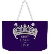 Keep Calm And Jive Diamond Tiara Deep Purple  Weekender Tote Bag