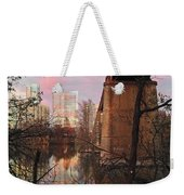 Austin Hike And Bike Trail - Train Trestle 1 Sunset Triptych Middle Weekender Tote Bag
